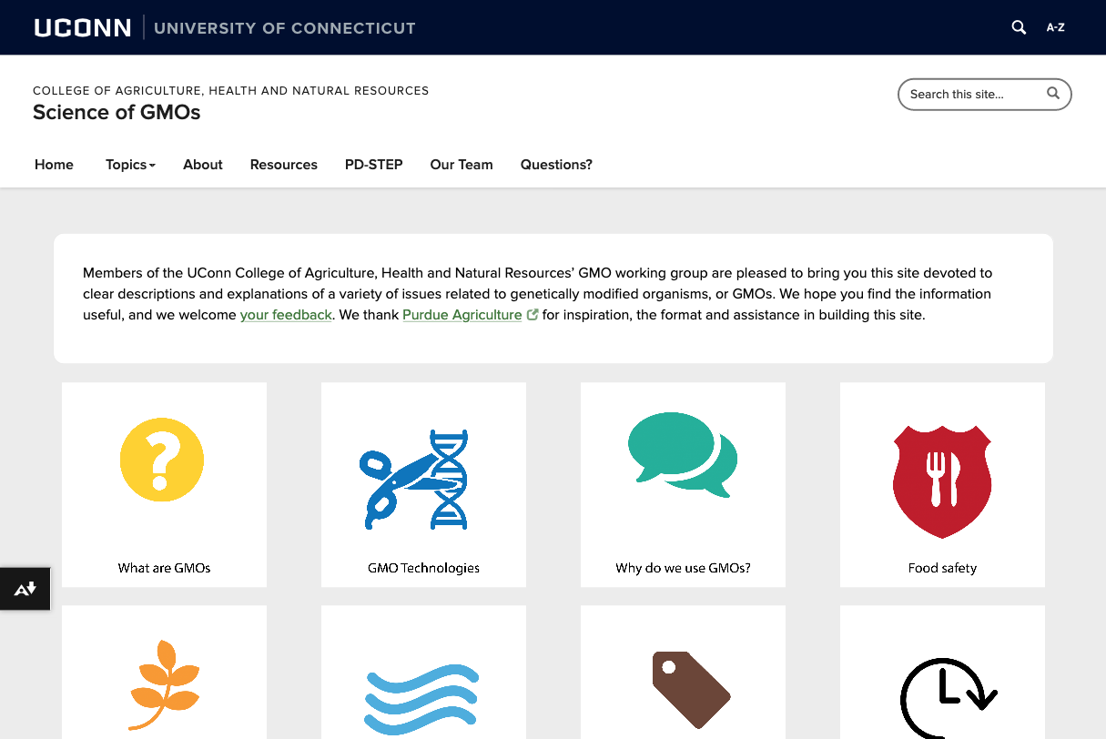Faculty team and website provide science-based information on GMOs